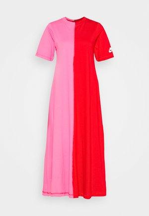 DRESS - Maxi dress - university red/pinksicle/white