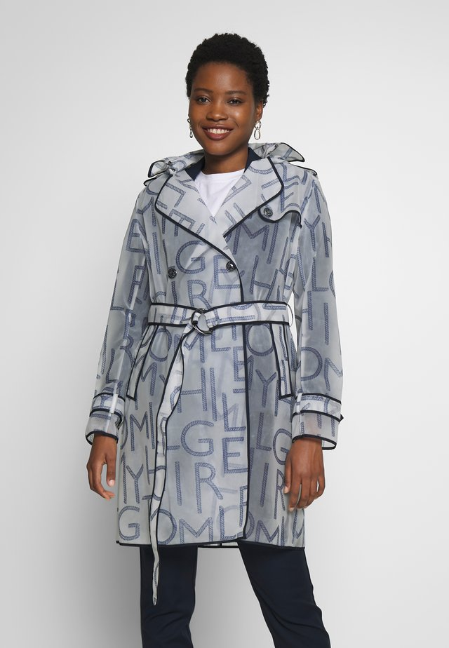 FELICIA HOODED RAIN - Trench - blue ink