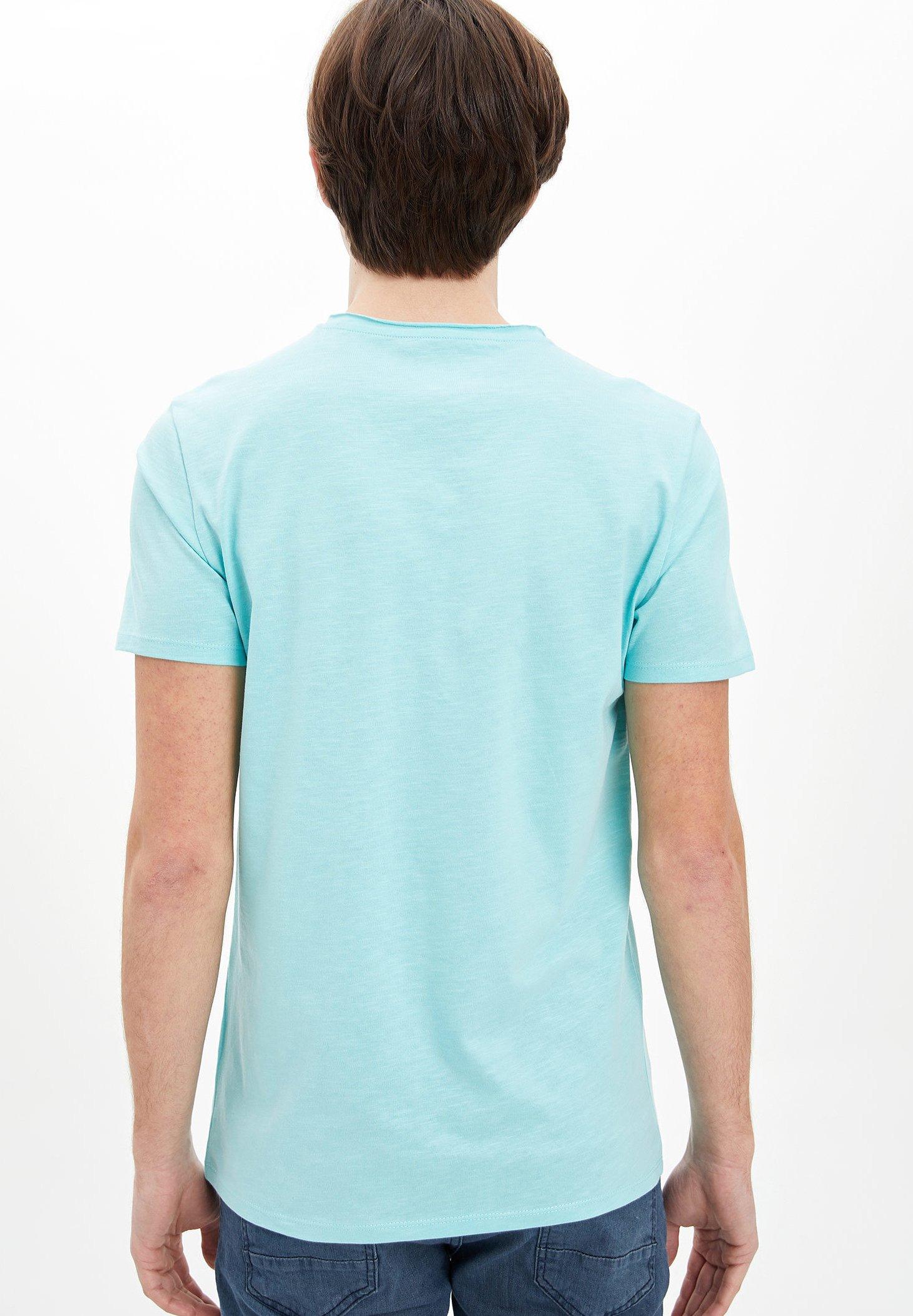 DeFacto Basic T-shirt - blue DFUyN