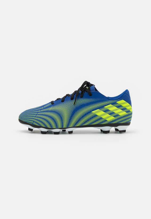 NEMEZIZ .4 FXG - Fodboldstøvler m/ faste knobber - royal blue/solar yellow/footwear white