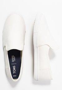 TOMS - CLEMENTE - Slip-ons - white - 3