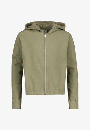 Zip-up hoodie - oliv