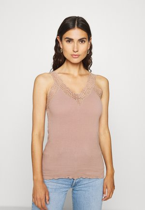 V NECK  - Top - nougat brown