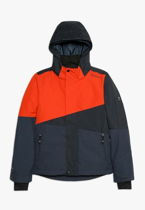IDAHO BOYS SNOWJACKET - Snowboardová bunda - red/dark blue