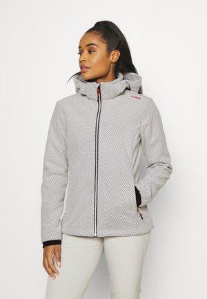 WOMAN JACKET ZIP HOOD - Soft shell jacket - grey/nero