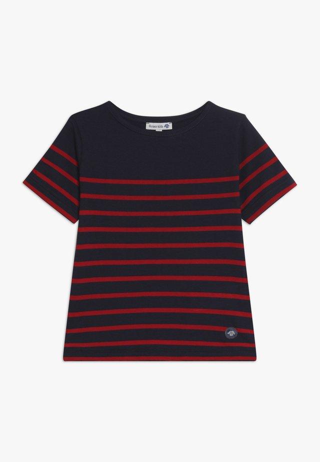 MARINIÈRE ETEL KIDS - T-shirts med print - navire/braise