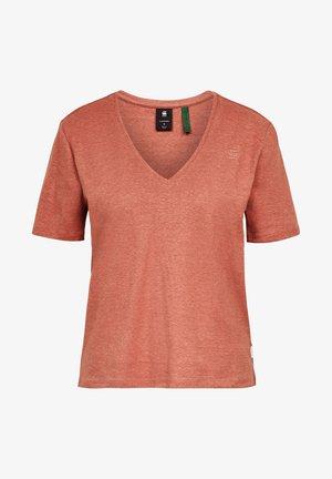 OVVELA - T-Shirt basic - lt auburn