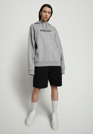 B-BOX HOODIE - Hoodie - medium grey melange