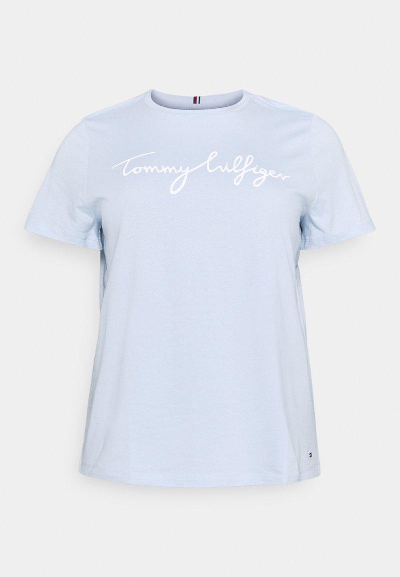 Tommy Hilfiger Curve - REGULAR GRAPHIC TEE - Print T-shirt - blue