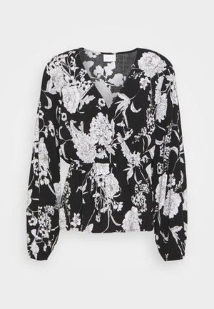 VIMUNTA WRAP TOP - Blouse - black/white