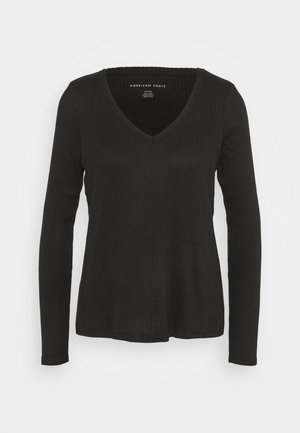 BUTTER PLUSH LAWS - Long sleeved top - true black