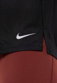 Nike Performance - MILER TANK BREATHE - Sports shirt - black/reflective silver - 6