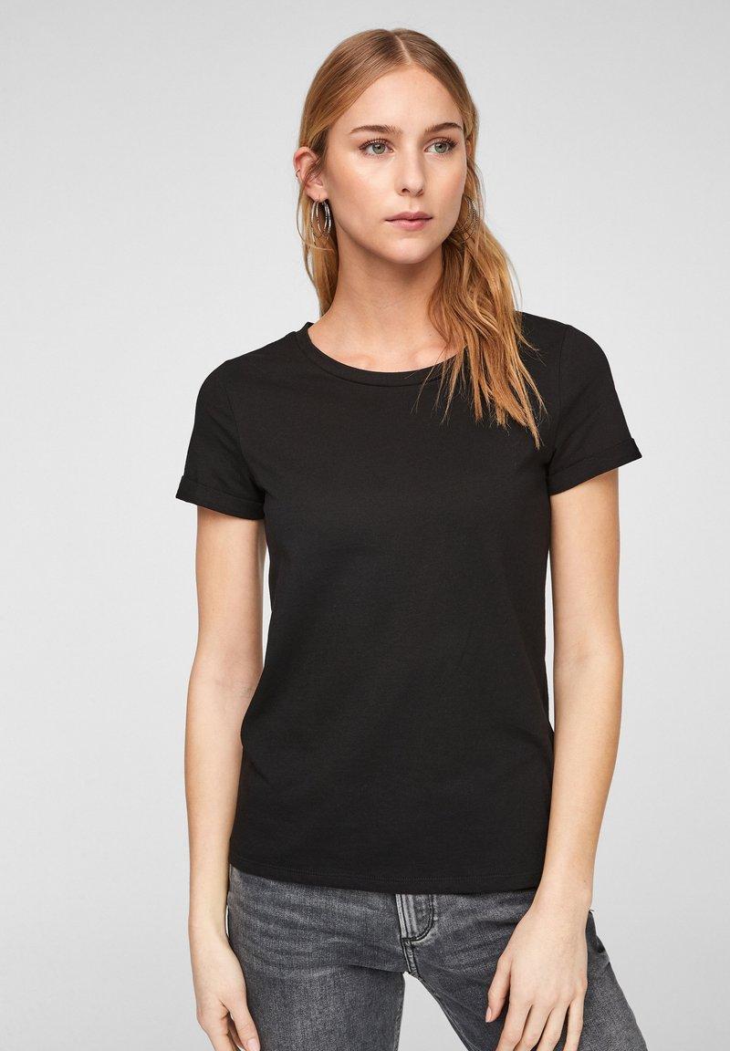 QS by s.Oliver - Basic T-shirt - black
