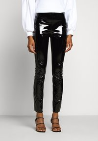 KARL LAGERFELD - PATENT - Leggings - black - 0