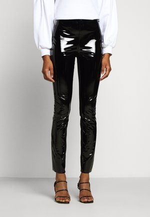 PATENT - Leggings - Trousers - black