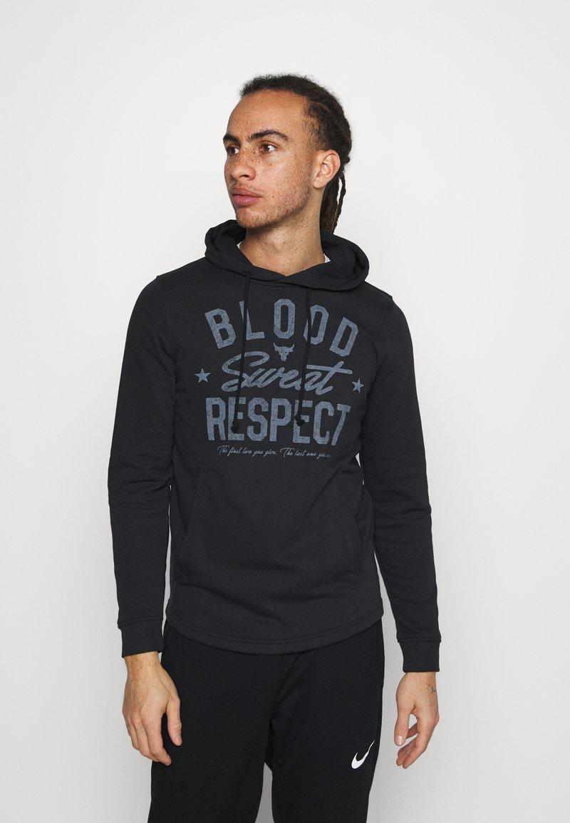 Under Armour - PROJECT ROCK TERRY - Sweatshirt - black