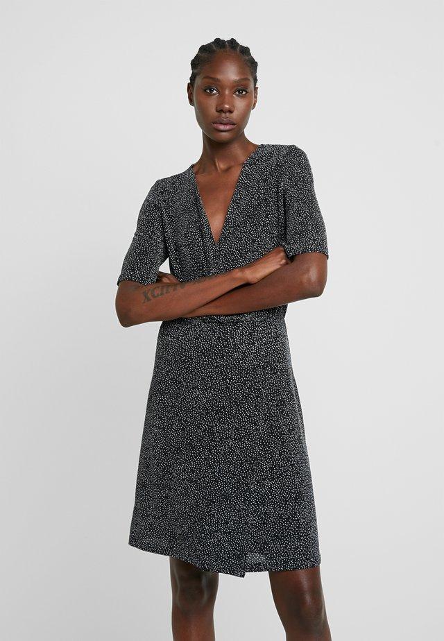 FLORETTA - Jerseykleid - black/sliver