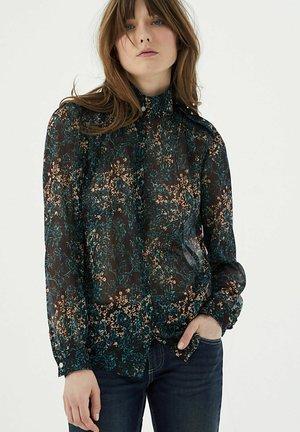 FLORAL ARABESQUE PRINT VOILE - Button-down blouse - grenat