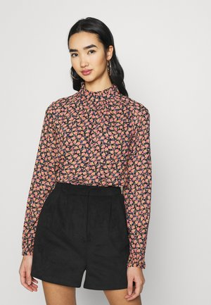 VMMILDA - Blouse - black/spiced coral
