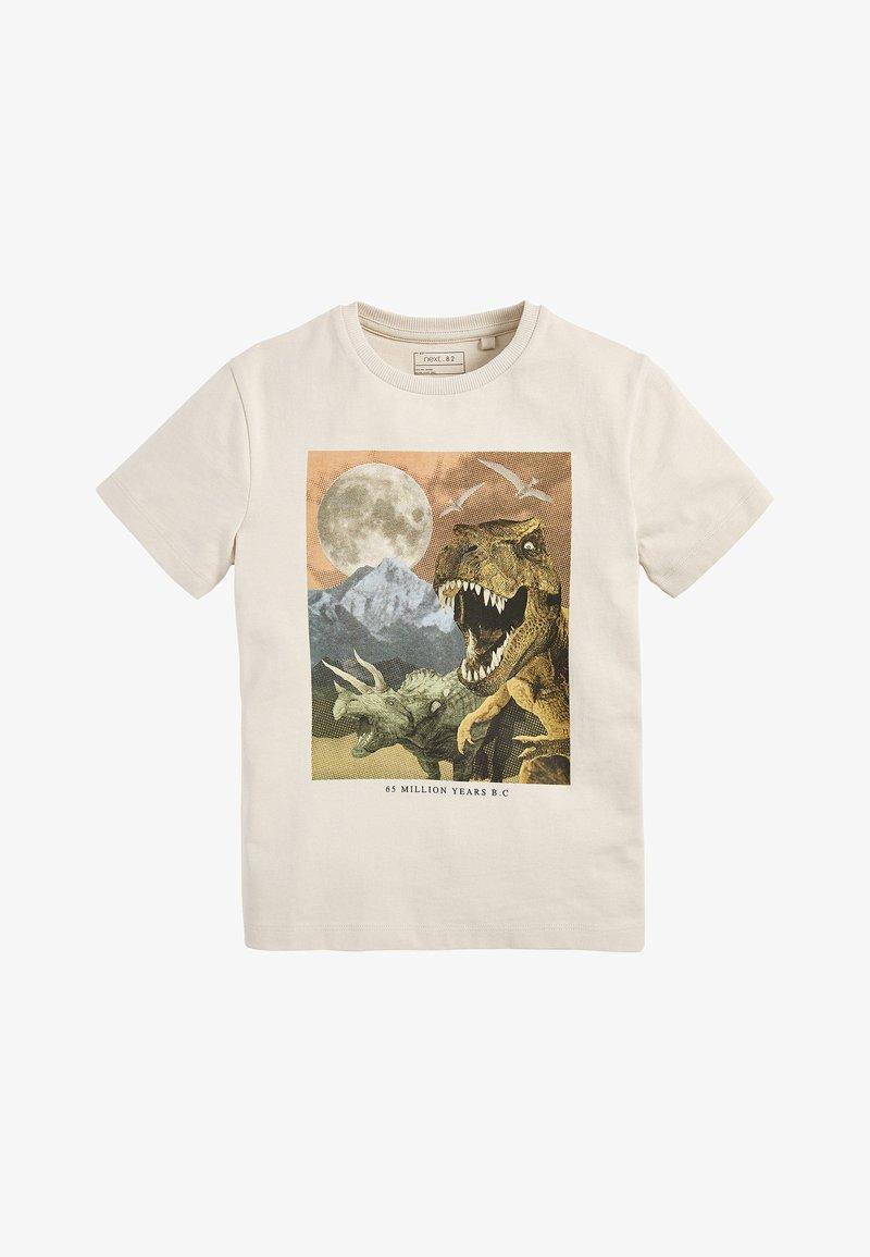 Next - Print T-shirt - beige