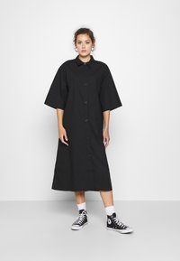 Monki - ELIN DRESS - Shirt dress - black dark - 1