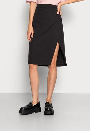 VIGULA WRAP KNEE SKIRT - Pencil skirt - black