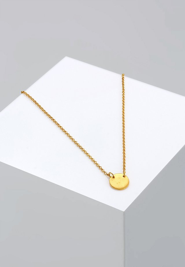 Kreis Plate - Collana - gold-coloured