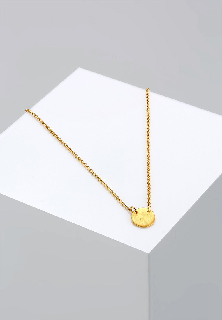 Elli - Kreis Plate - Necklace - gold-coloured