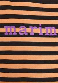 Marimekko - ENSILUMI LOGO TASARAITA - Print T-shirt - dark orange/black/purple - 2
