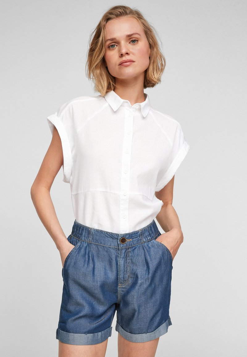 QS by s.Oliver - Jeansshort - medium blue