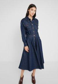 Polo Ralph Lauren - PARRIS WASH - Denim dress - dark indigo - 0