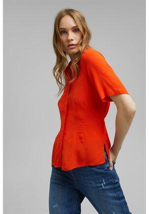 Button-down blouse - orange red