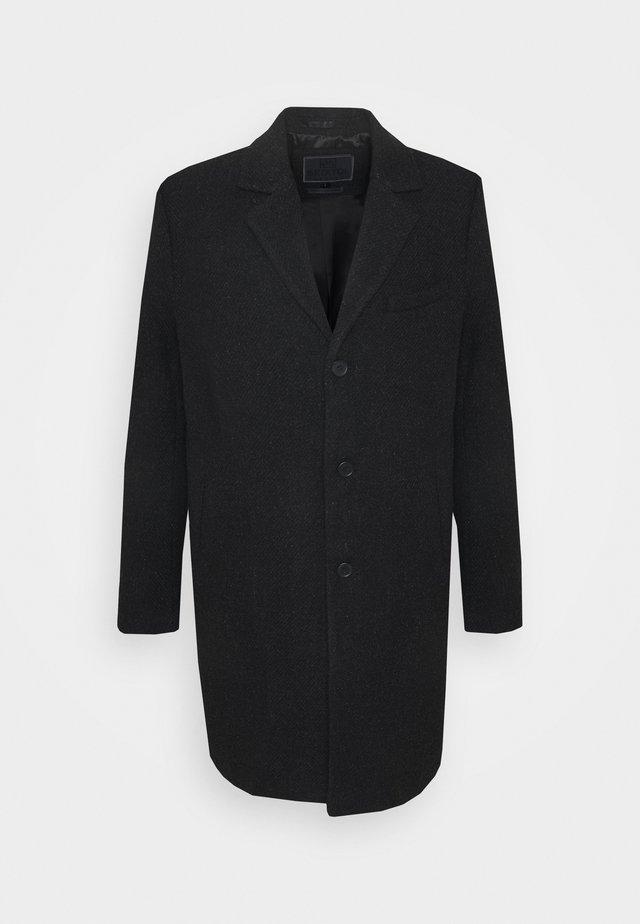 IAN - Klasický kabát - black melange