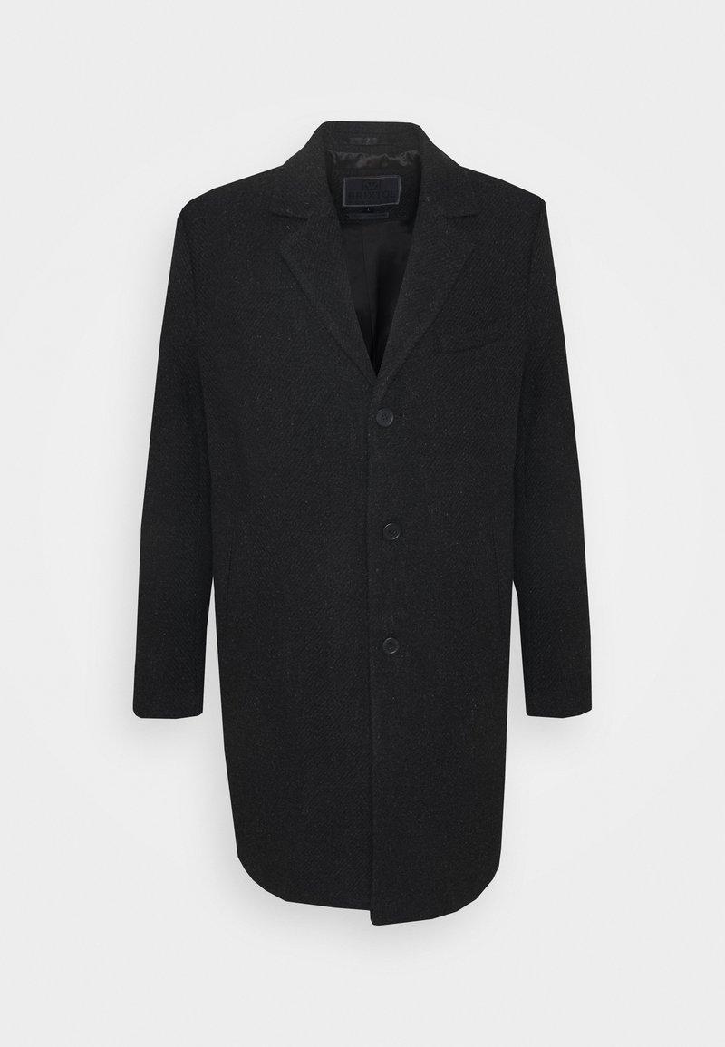 Brixtol Textiles - IAN - Klasický kabát - black melange