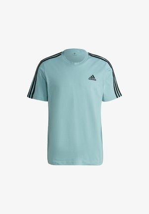 3-STRIPES SPORTS ESSENTIALS T-SHIRT - Print T-shirt - mint ton/black