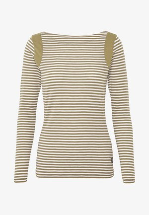 ZOVAS - Long sleeved top - smoke olive/milk stripe