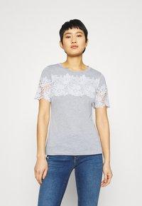 Dorothy Perkins - INSERT TRIM TEE - Print T-shirt - grey - 0