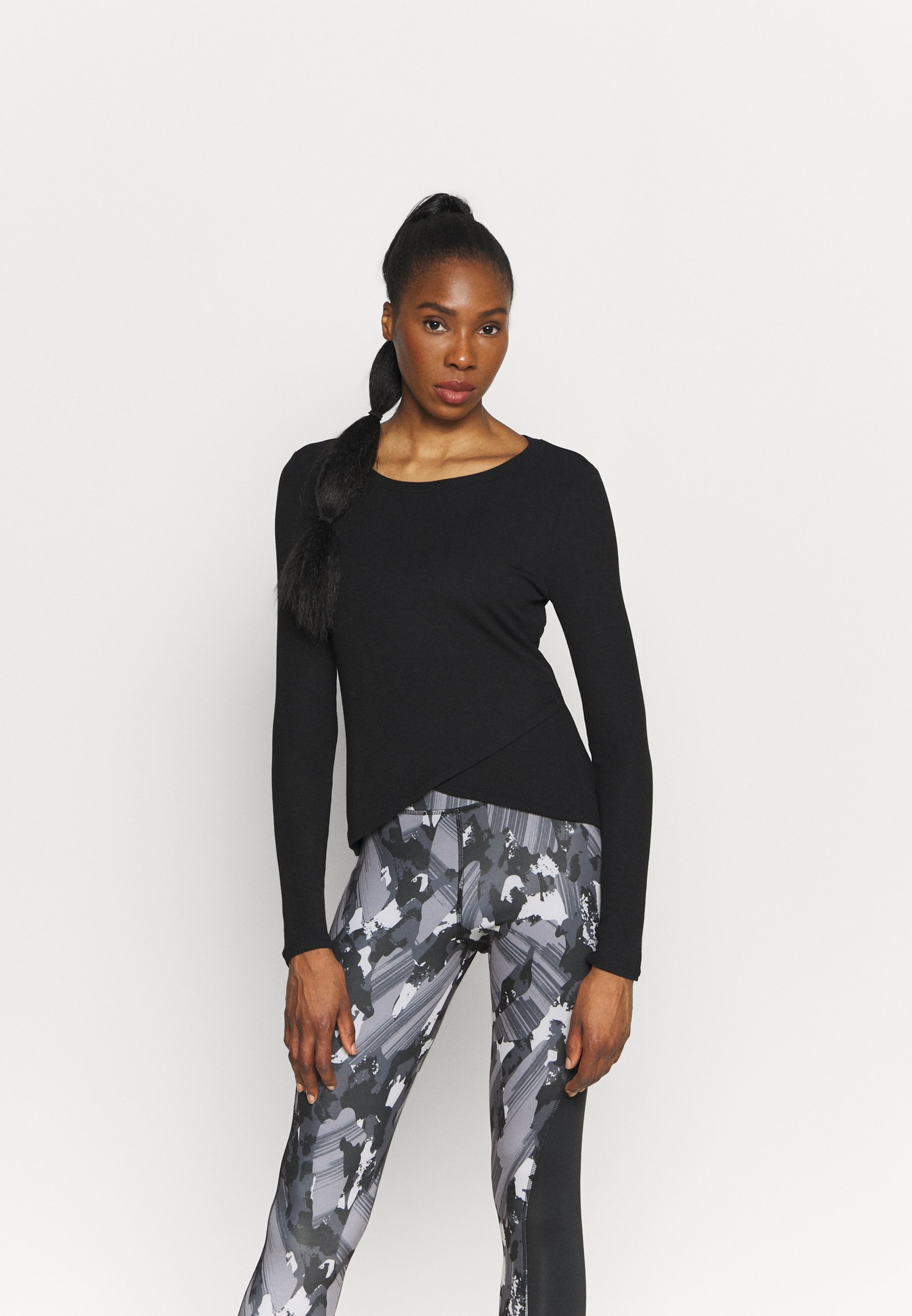 Women WRAP FRONT - Long sleeved top