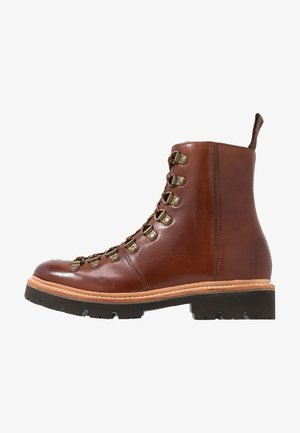 NANETTE - Platform ankle boots - tan