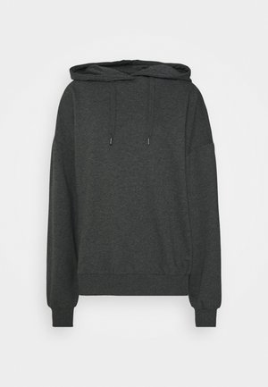 LONG OVERSIZED HOODIE - Hættetrøjer - mottled grey