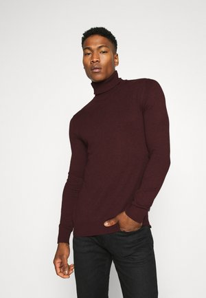 JJEEMIL ROLL NECK - Jumper - port royale melange