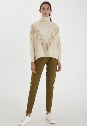 IHMARISSA LS - Stickad tröja - tapioca
