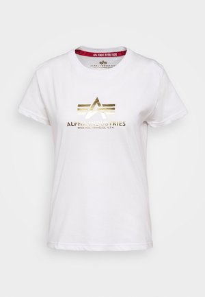 NEW FOIL - T-shirt print - white/metal gold