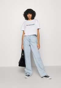 The North Face - LETTER TEE - T-shirts med print - white/black/ethereal blue - 1