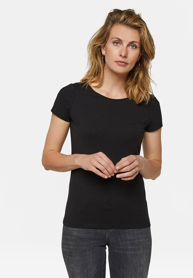 WE FASHION DAMEN-T-SHIRT AUS BIO-BAUMWOLLE - Basic T-shirt - black