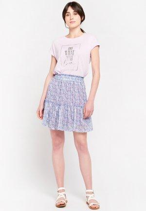 LIBERTY PRINT - A-line skirt - purple
