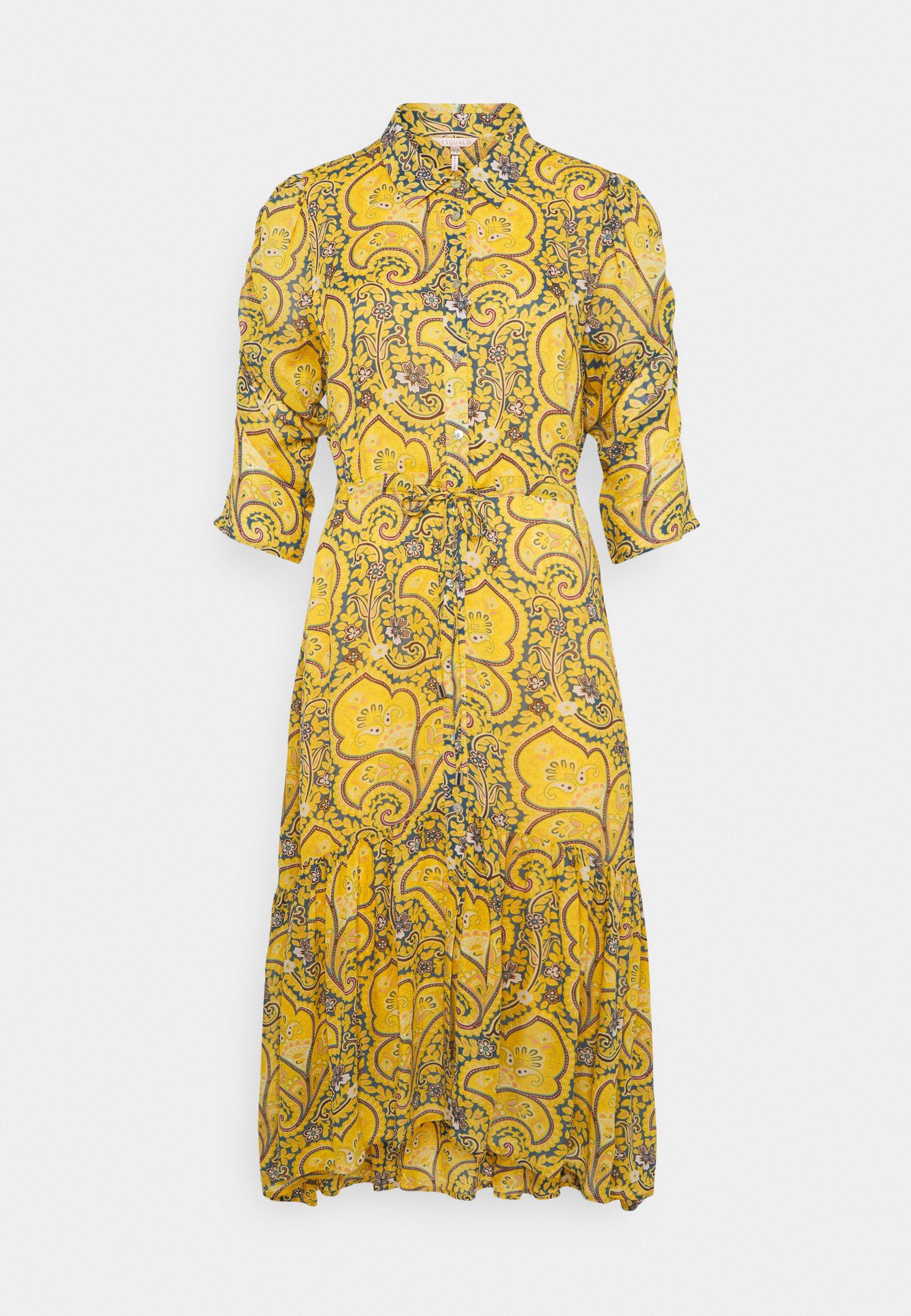 Women DRESS LONG PUFF SLEEVE - Shirt dress