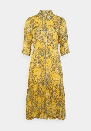 DRESS LONG PUFF SLEEVE - Shirt dress - yellow