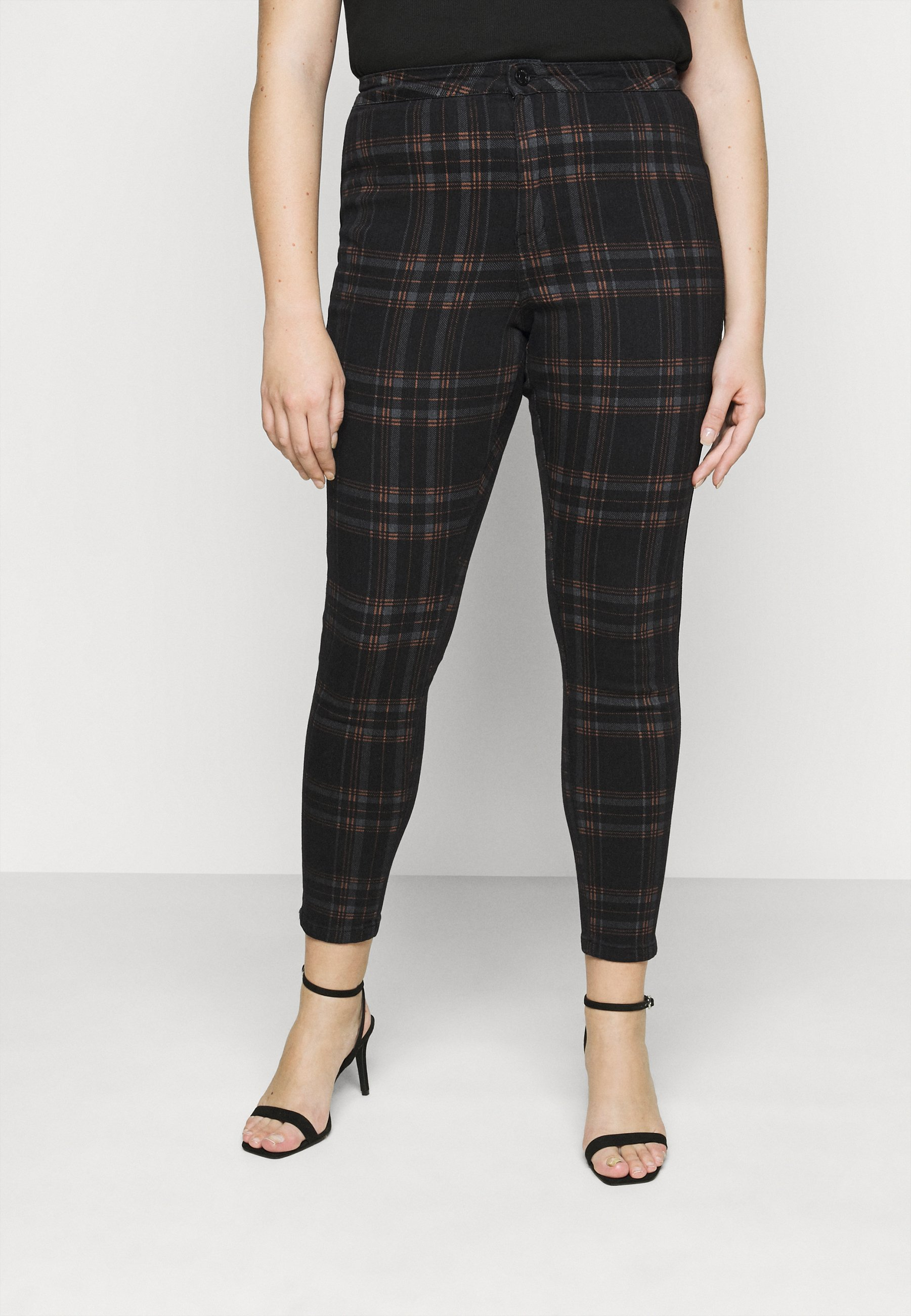 Women VICE CHECKED HIGHWAISTED  - Jeans Skinny Fit