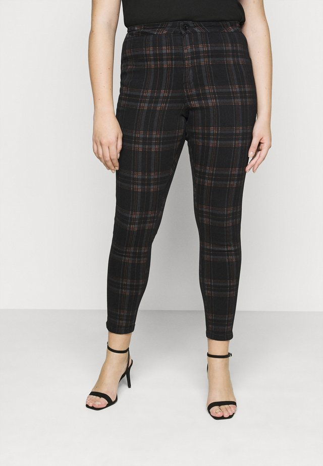 VICE CHECKED HIGHWAISTED  - Jeans Skinny Fit - black